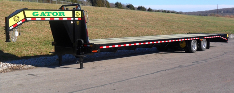 Gooseneck Trailer For Sale | 40 Foot Flat Bed Gooseneck Trailer For Sale