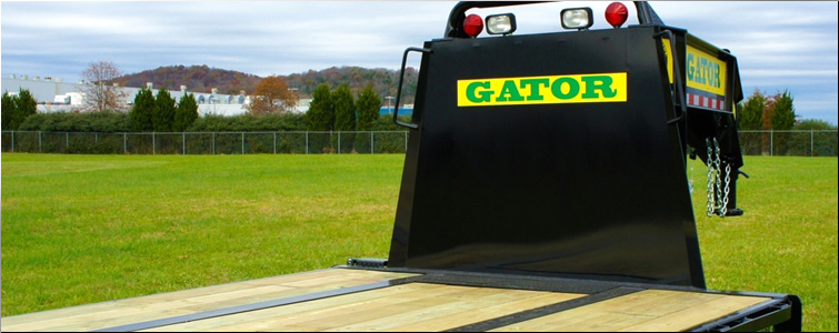 Flat Bed Gooseneck Equipment Trailer | EQUIPMENT TRAILER - 40 FT FLAT BED GOOSENECK TRAILERS FOR SALE